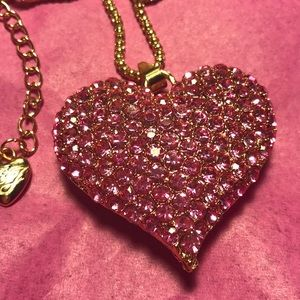 Betsey Johnson hot pink Heart necklace